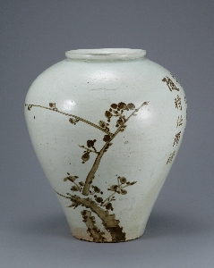 Jar with a Poem, and Bamboo and Plum Tree Design 대표 이미지