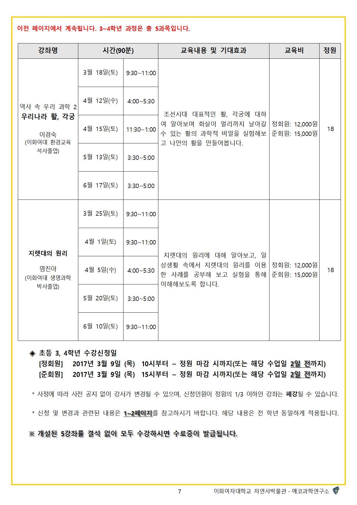 2017학년도 봄학기 자연사교실7