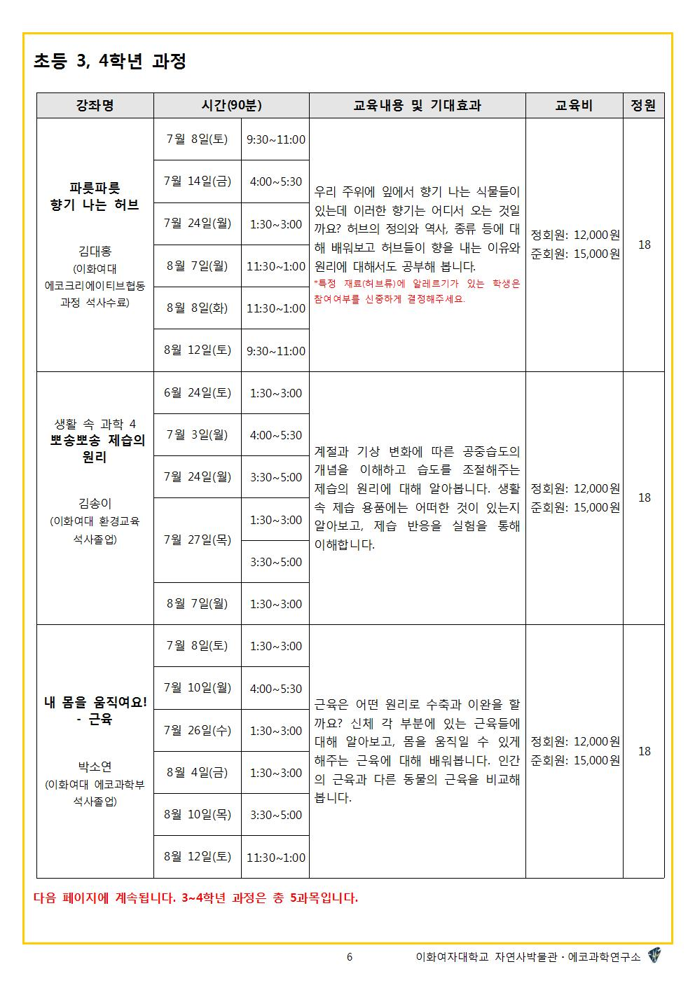 [2017 여름]자연사교실 시간표6